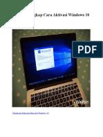 Tutorial Lengkap Cara Aktivasi Windows 10 Permanen