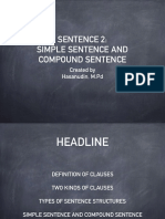 Simple and Compound Sentence