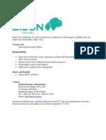 Bison Travel Sales & Reservation