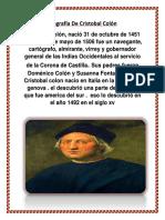 Biografia de Cristobal Colon