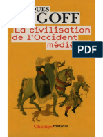 Jacques Le Goff -  La civilisation de L'Occident médiéval