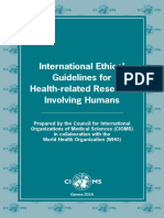 2016 WHO CIOMS Ethical Guidelines