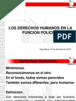 Derechos Humanos en La Funcion Policial