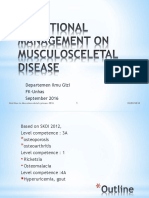 Nutritional Management on Musculosceletal Disease