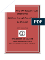Ba English-Vi Sem. Additional Course - Perspectives on Literature