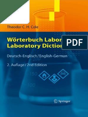 Worterbuch Labor Laboratory Dictionary De En