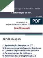 Slide Como Fazer Tcc Aesga