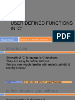 User Defined Functions in  'C'