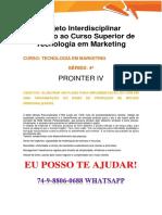 Anhanguera Prointer IV Tecnologia Em Marketing 2018