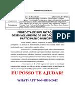 Unopar Adm Publica - 3 e 4 Semestre Orçamento Participativo Municipal