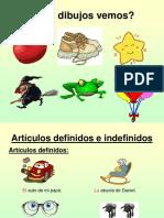 ARTICULOS DEFINIDOS INDEFINIDOS