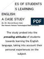 Attitudes of Students Towards Learning English