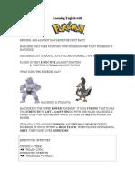 Learning English with Pokémon IV