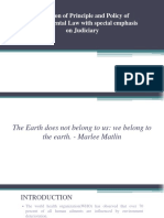Evolution of Principle and Policy of Environmental Law PPT