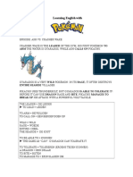 Learning English with Pokémon VII