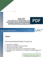 Presentacion NIA 540 Proyectada