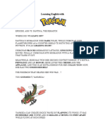 Learning English with Pokémon X