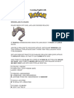 Learning English with Pokémon XII