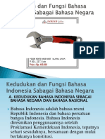 Kedudukan Dan Fungsi Bahasa Indonesia Sabagai Bahasa Negara Ppt