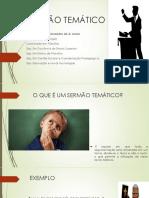 SERMÃO TEMÁTICO - Prof. Coriolando Fernandes de a. Junior