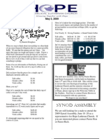May 3 2009 Spirit of Hope Newsletter, Hope Evangelical Lutheran Church