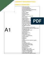 Elenco argomenti grammaticali francesi divisi per livello A1-B1