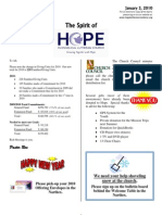 Jan 3 2010 Spirit of Hope Newsletter, Hope Evangelical Lutheran Church