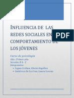 Influencia de Las Redes Sociales PSICOLOGIA