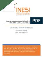 Ponencia INESI Vista Comision Energia - 30 de Agosto 2018