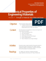 Module 4 Mechanical Properties of Engineering Materials
