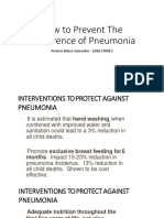 9. How to Prevent the Occurrence of Pneumonia 10. Complications and Prognosis