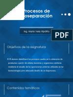 [PBIO] Unidad I - Procesos de Bioseparación