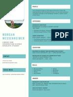 Messenheimer Resume Jan 2018