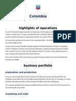 Colombia — Chevron