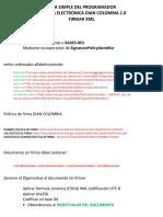 Guia Simple Del Programador Dian Colombia Firma XML