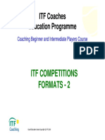 ITF COMPETITIONS FORMATS - 2
