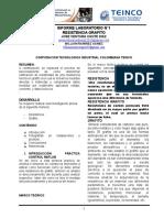 INFORME ANALISIS DE RESISTENCIA GRAFITO