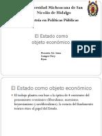 El Estado Como Objeto Económico