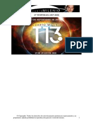 Cuarto Milenio - Guia 13ª Temporada (17-18)