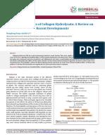 Efectos benéficos de hidrolizado de colágeno