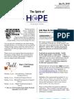 Jul 25 2010 Spirit of Hope Newsletter, Hope Evangelical Lutheran Church
