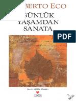 2795 Gunluk Yashamdan Sanata Umberto Eco Kemal Atakay 2012 254s
