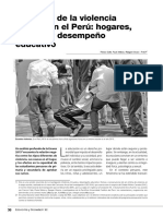 El Círculo de La Violencia Escolar en El Perú Hogares, Escuela y Desempeño Educativo