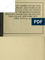 Guide to the exhibit of the Typographic Library and Museum of the American Type Founders Company at the Second National Printing Exposition, Grand Central Palace, New York City, April 18 to 25, 1914
