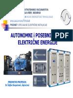 Autonomni i Posebni Izvori Elektricne Energije