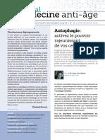 JournalMedecineAntiAge 70 Septembre 2018 Autophagie Activez Le Pouvoir Rajeunissant de Vos Cellules SD
