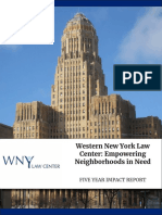 Western New York Law Center Funder's Report