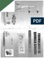 Formulario de Quimica General - Santiago Cayo
