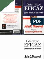 Liderazgo Eficaz Como Influir en Los Demas - John c Maxwell