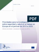 OSH research priorities summary - es.pdf